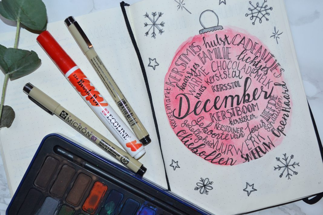 bulletjournal in december