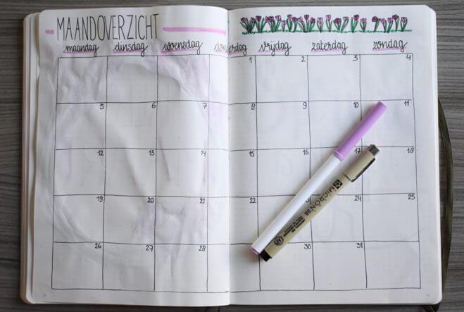 Mijn bullet journal setup voor maart