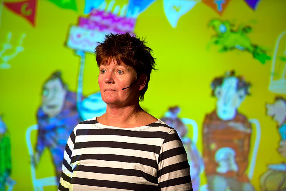 Tosca Menten bij de kinderboekenparade