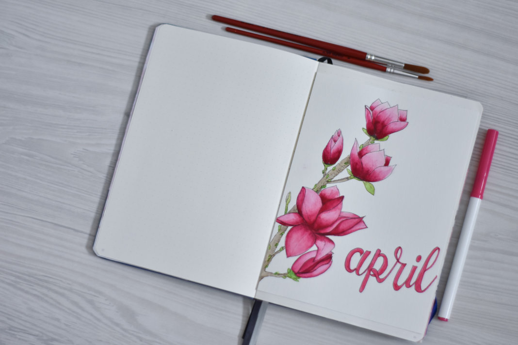 bullet journal in april