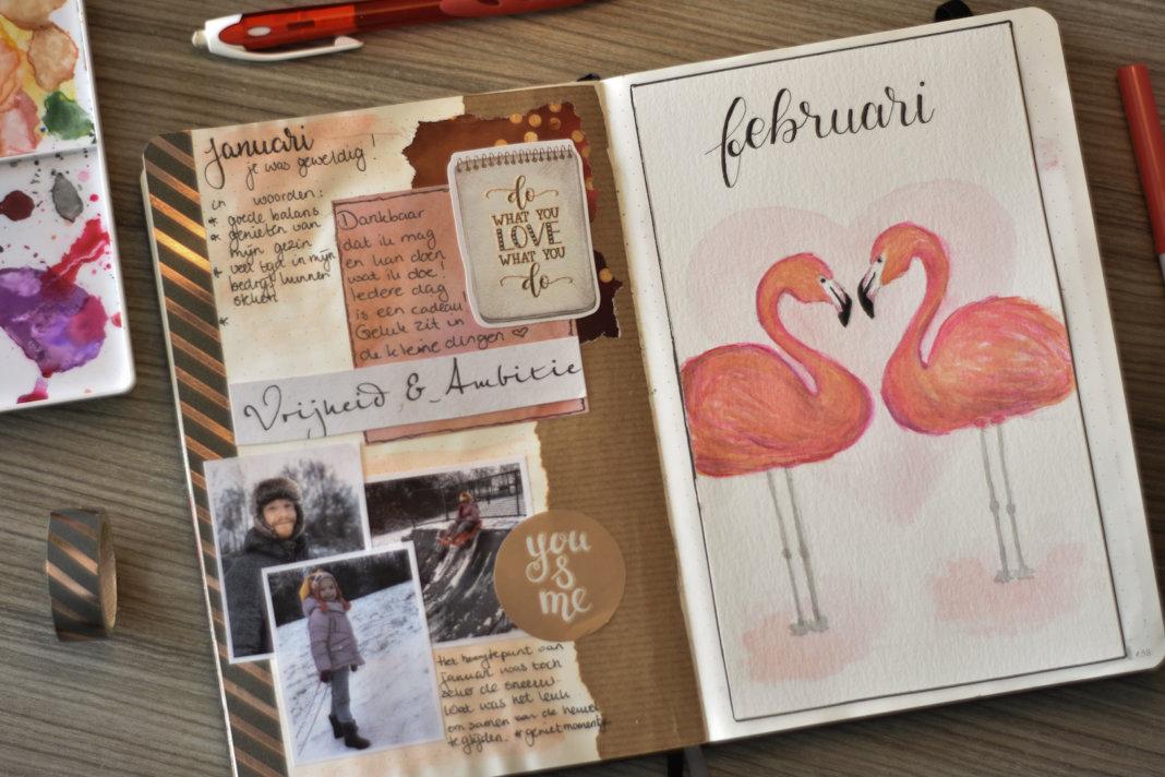 bullet journal in februari