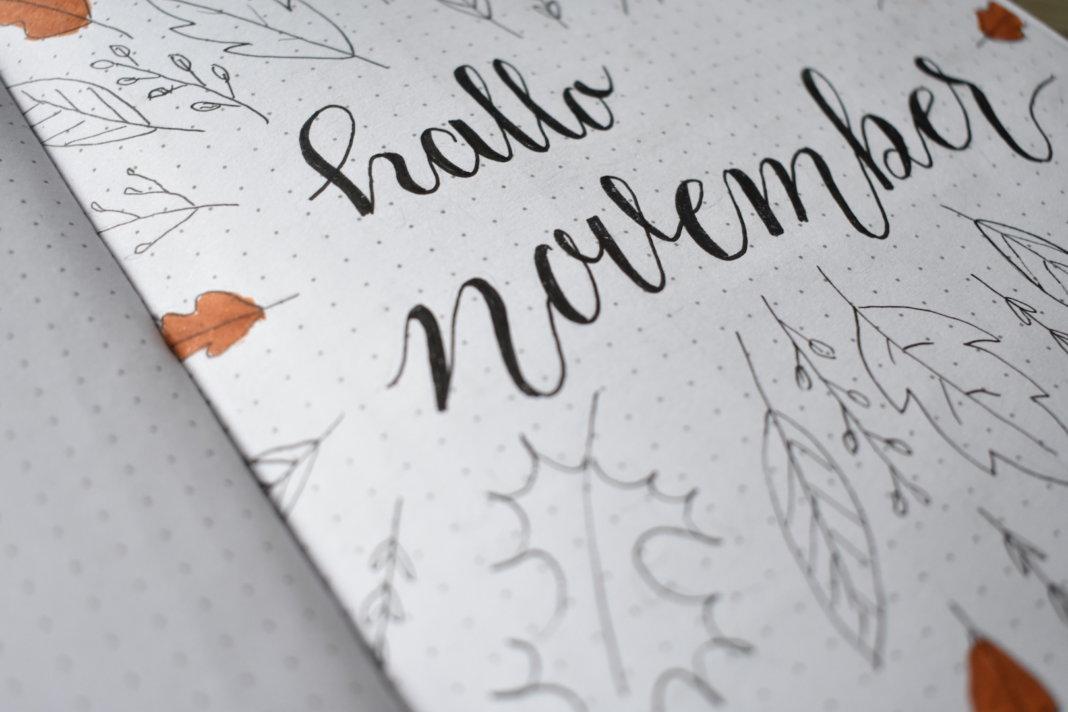 mijn bullet journal setup voor november