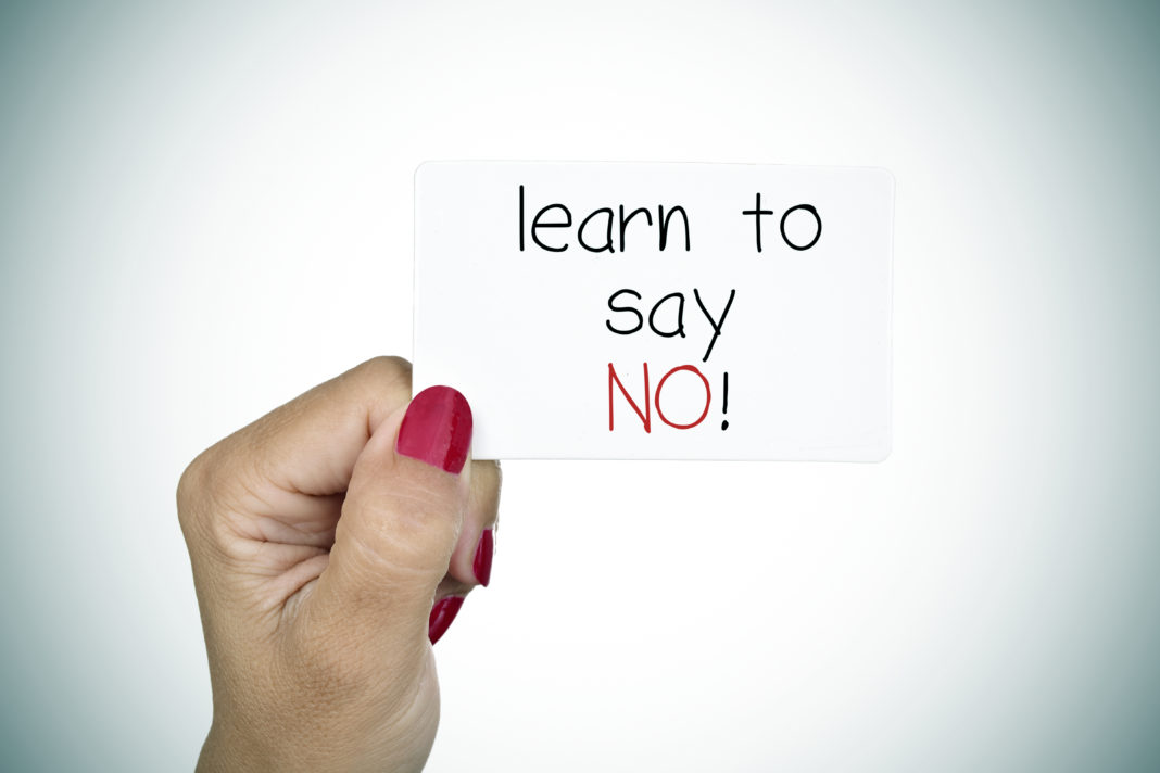 nee zeggen is moeilijk maar nee zeggen kan je leren